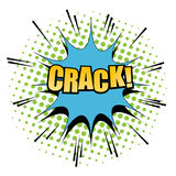Comic Crack word background Royalty Free Stock Photos