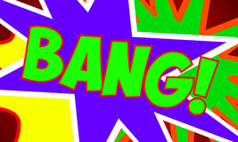 Comic Design BANG 1 Stock Image