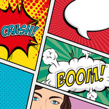 Comic design. Stock Images