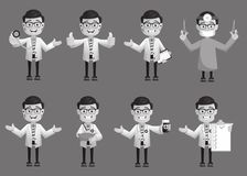 Comic Doctors Expressions and Gestures Collection Stock Images