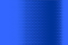 Comic dotted pattern. Blue color. Halftone background Retro backdrop with circles, dots. Stock Image
