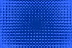 Comic dotted pattern. Blue color. Halftone background Retro backdrop with circles, dots. Stock Photography