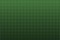 Comic dotted pattern. Green color. Halftone background Vector illustration Stock Photography