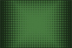 Comic dotted pattern. Green color. Halftone background Vector illustration Stock Images