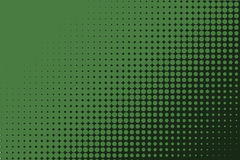 Comic dotted pattern. Green color. Halftone background Vector illustration Royalty Free Stock Photography