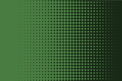Comic dotted pattern. Green color. Halftone background Vector illustration Royalty Free Stock Photo