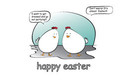 Comic Eastern eggs. Vector illustration of eastern eggs cartoon Stock Image