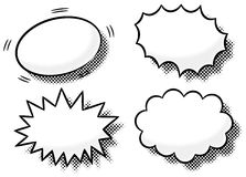 Comic effect bubbles. Vector illustration of comic effect bubbles vector illustration