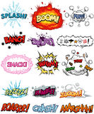 Comic Elements. A collection of Comic Elements, including onomatopoeia and sound effects. All text are originally created, all of them are not copyrighted fonts Stock Photo