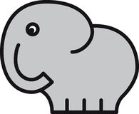 Comic elephant baby Stock Image
