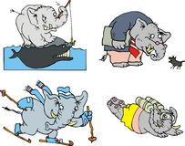 Comic elephants Stock Photography