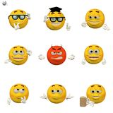 Comic emoticon set Stock Photography