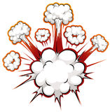 Comic explosion Royalty Free Stock Image