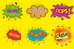 Comic explosion. Flat design, illustration stock illustration