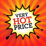 Comic explosion with text Very Hot Price Royalty Free Stock Photography