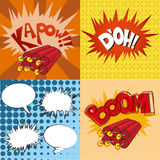 Comic expression Stock Image
