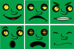Comic expressions Royalty Free Stock Photography