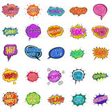 Comic Expressions Speech Bubbles Royalty Free Stock Image