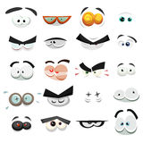 Comic Eyes Expression Set Royalty Free Stock Photo