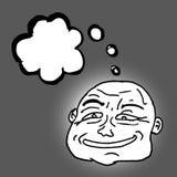 Comic face thinking Stock Image