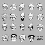 Comic faces collection Royalty Free Stock Image