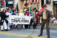 Comic  fans in the 73th Annual Nisei Week Grand Parade Royalty Free Stock Images