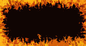 Comic fire. Flames frame background Royalty Free Stock Photography