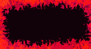 Comic fire frame background Royalty Free Stock Photos