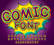 Comic font. Alphabet in style of comics, pop art Stock Photo