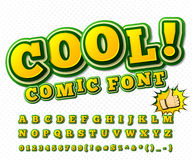 Comic font. Alphabet in style of comics, pop art Royalty Free Stock Photo