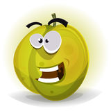 Comic Funny Plum Character Royalty Free Stock Images