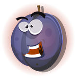 Comic Funny Plum Character Stock Photos