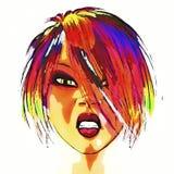 Comic girl Stock Image