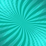 Comic green elegant blank background. With rays radial and halftone effects. Vector illustration Stock Photos
