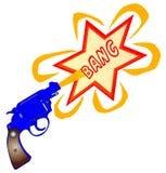 Comic Gun Bang Royalty Free Stock Image
