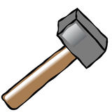 Comic hammer Royalty Free Stock Photo