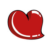 Comic heart Stock Photo