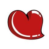 Comic heart Stock Photo