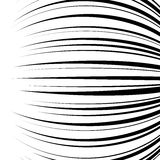 Comic horizontal speed lines background. Comic horizontal curved speed lines background. Vector illustration Royalty Free Stock Images