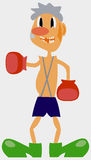 The comic image of the boxer. Royalty Free Stock Photos