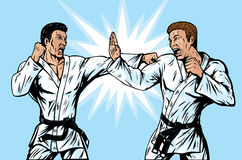Comic Karate Fighters Royalty Free Stock Photos
