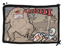 Comic kill monster. Creative draw of kill monster draw Stock Photos