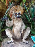 Comic Lemur. This model lemur is part of a comic display of wild animals. In nature, lemurs are a clade of strepsirrhine primates from the island of Madagascar royalty free stock photo