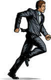 Comic like Business man running Stock Images