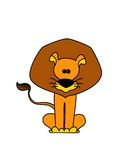 Comic lion. On a white background Royalty Free Illustration