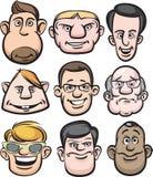 Comic men faces Stock Photography