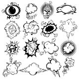 Comic Monochrome Speech Bubbles Collection Royalty Free Stock Image
