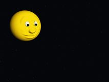 Comic moon Royalty Free Stock Images