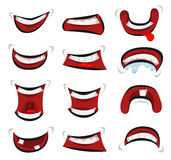 Comic Mouth Emotions Set Stock Image