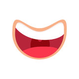 Comic mouth smiling icon. Laughting Vector illustration. Happy throat emoji Stock Photo